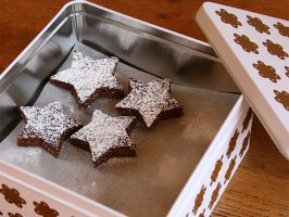 Star Shaped Brownies In Tin